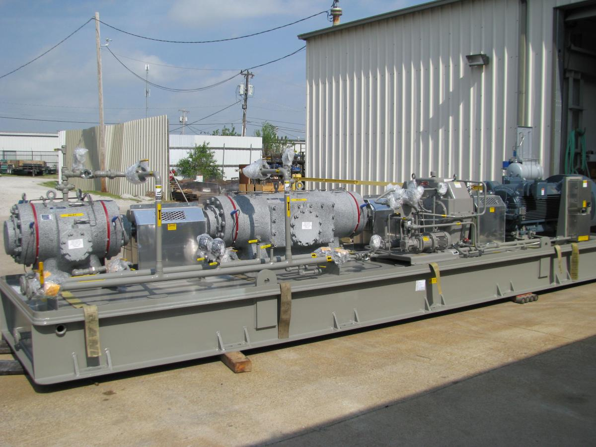 Large Two-Stage Fuller Rotary Vane System for Landfill Remediation