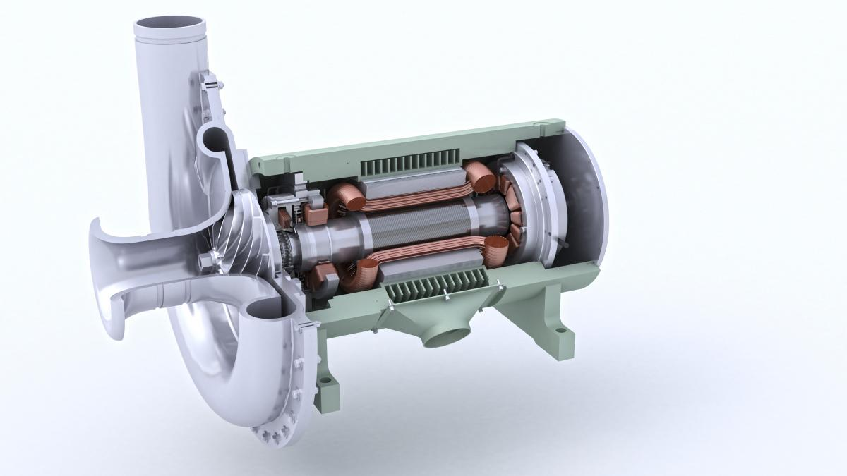 Magnetic bearings an attractive force for energy for High efficiency blower motor