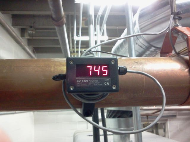 CDI 5400 flow meter installed on a major air distribution line